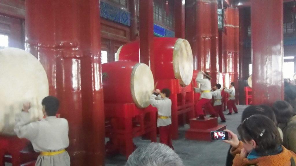 Drummers in the Drum Tower, Beijing