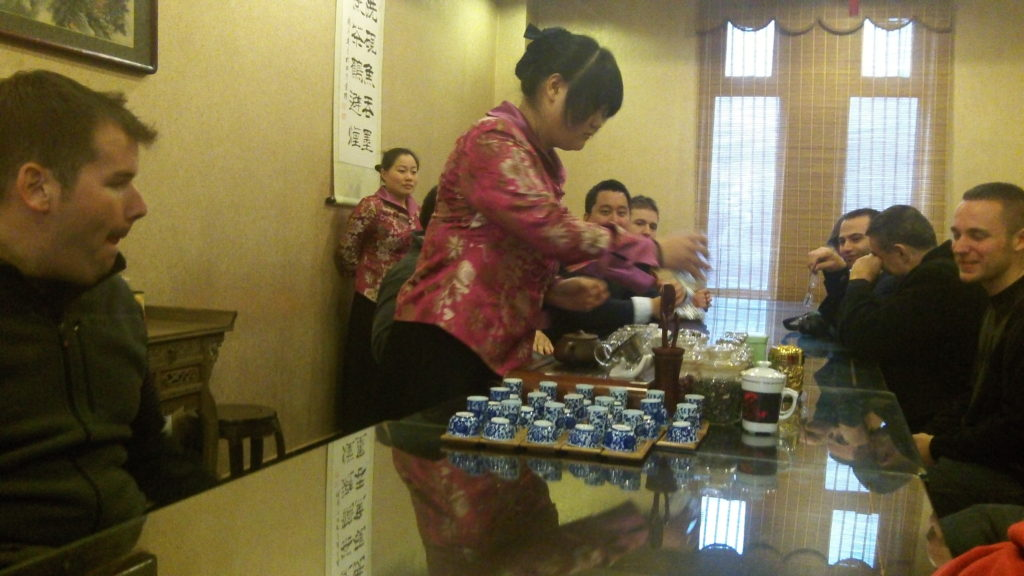 Tea Ceremony and sampling