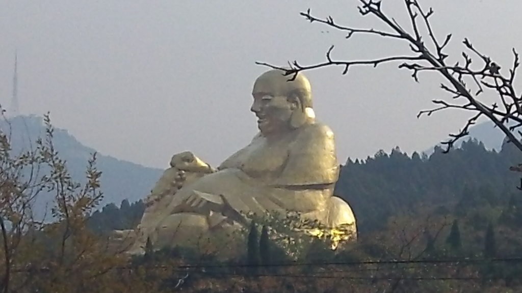 Golden Buddha from miles away