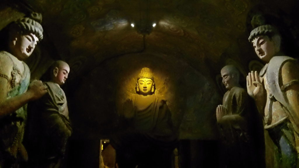Cave entrance to 1000 Buddha Mountain