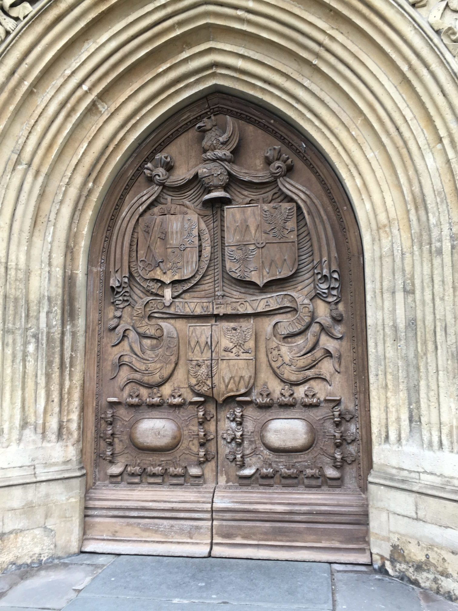 Doors to the house of the dead, Bath, England
