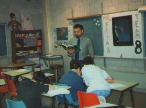 Michael Fryar in classroom