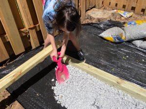 Leveling the gravel